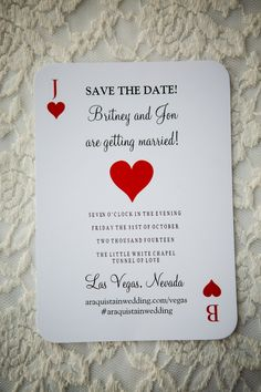 las vegas save the date deck of cards                                                                                                                                                                                 More