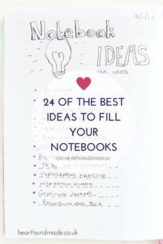 24 Of The Best Ideas To Fill Your Notebooks