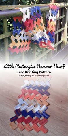 Little Rectangles Summer Scarf - A free knitting pattern by Knitting and so on