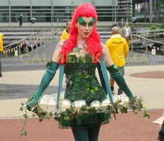 SUPERHEROES  to hire - POISON IVY canape hostess for your SUPERHEROES themed party and corporate events. www.calmerkarma.co.uk    Tel:  0203 602 9540 Available to hire across the UK inc London, manchester, cheshire, Birmingham, Belfast Villains Party, Terrifying Halloween, London Manchester, Halloween Party Themes, Dark Lord, Poison Ivy, Belfast, Party Fashion, Gotham