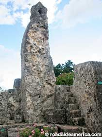 Coral Castle - Homestead, Florida  Coral Castle doesn't look much like a castle, but that hasn't discouraged generations of tourists from wanting to see it. That's because it was built by one man, Ed Leedskalnin, a Latvian immigrant who single-handedly and mysteriously excavated, carved, and erected over 2.2 million pounds of coral rock to build this place, even though he stood only five feet tall and weighed a mere 100 pounds.