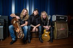 Gotthard Band Shooting at the most famous Wisseloord Studios in Hilversum.