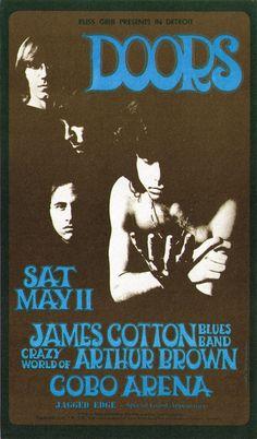 The Doors At Cobo Arena Concert Postcard