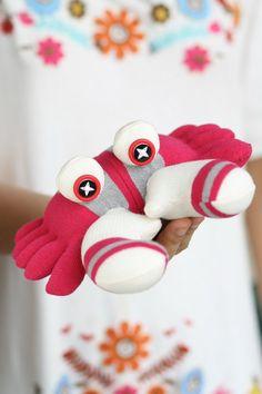 Handmade  sock Crab    toy   monster   sock  doll  by hellykary, $12.50