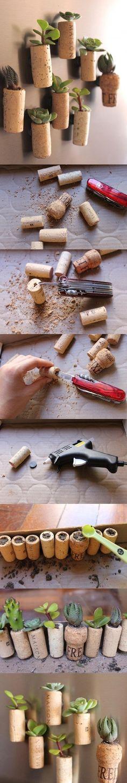 DIY Cork Succulent
