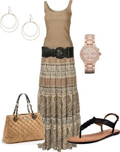 """Maxi Print"" by wcatterton ❤ liked on Polyvore"