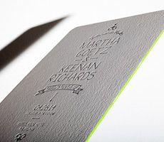 Bella Figura // letterpress invitations