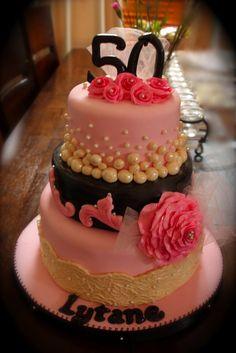 HauteCake: Pink and Brown Cake