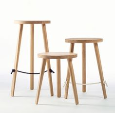 Mariner Stool designed by Ben Wahrlich Available in 3 heights - Bar 750mm, Counter 550mm and Cafe 450mm Navy blue or white rope Made from American White Oak Australian made
