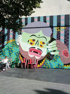 Kashink @ Le M.U.R #StreetArt #Paris #urbacolors