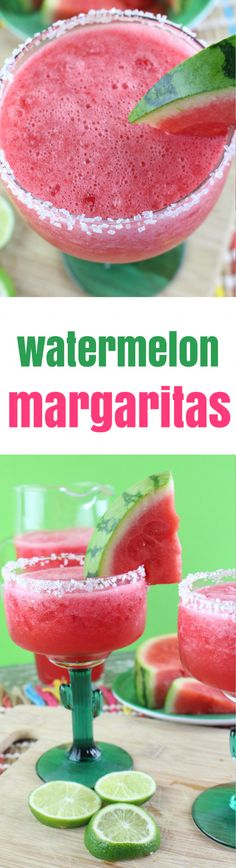 Margaritas have a special part in my heart, especially this time of the year when the weather is warming up. Add watermelons to that mix and I am in love! This sweet, fruity salt-rimmed watermelon margarita will make your heart sing during Cinco de Mayo a