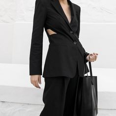 "2,443 Likes, 48 Comments - KAITLYN HAM (@kaity_modern) on Instagram: ""Back to black.. ♣️🎱 The 80s power suit, reimagined by @tibi 💪🏼#ootd #thenetset"""