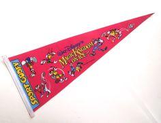 Sport Goofy Disney Magic Kingdom on Ice Souvenir Pennant, Vintage Felt Flag by planetalissa on Etsy
