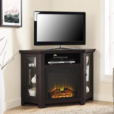 Perfect This Dimplex Oxford Corner Fireplace TV Stand Is A Gorgeous Color A