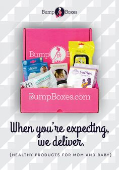 Give the perfect Pregnancy Gift box!  Send a new box full of safe and healthy products for mom and baby each month!   #BumpBoxes