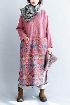 Art Printing Maxi Size Casual Loose Long Dresses Women Clothes