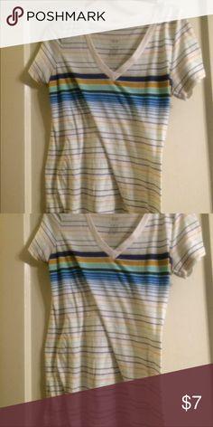 Xhilaration stripe tee Used Xhilaration Tops Tees - Short Sleeve