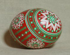 Stars and boughs pysanka pysanky for Easter or by HankyPysanky