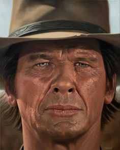 I painted Charles Bronson from Once Upon a Time in the West in oils I hope you enjoy. Western Film, Western Movies, Hollywood Stars, Classic Hollywood, Actor Charles Bronson, Tv Westerns, Old Movie Stars, Clint Eastwood, Famous Faces