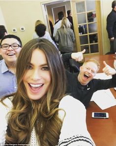 Just like family! Earlier in the day, the Colombian born beauty shared a fun Instagram sna...