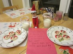 A special breakfast from the Elf on the shelf All your Elf on the Shelf Ideas from Valley Family Fun www.ValleyFamilyFun.ca