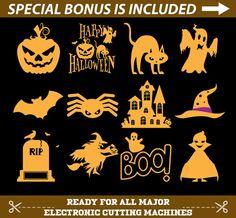 Halloween svg, halloween svg files, halloween svg file, halloween monogram svg, halloween dxf, halloween png, halloween clip art, clipart
