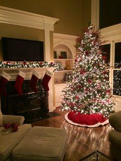 Christmas Wonderland, Magical Christmas, Beautiful Christmas, Christmas Holidays, Indoor Christmas Decorations, Christmas Themes, Holiday Decor, Christmas Fireplace, Christmas Mantels