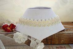 Collar marfil perlas de boda Gargantilla de boda por DIDIcrochet