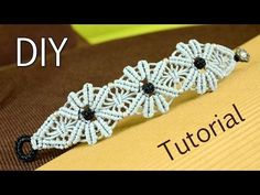 M Macramé Flower Bracelet Tutorial ✿✿✿ - YouTube