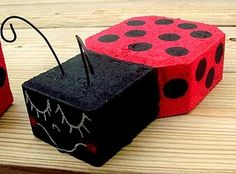 HERE IS A FUN SATURDAY SPOTLIGHT do it your self project~ CAN WE SAY CA-UUUTE! My brother Gareth made these for my SIL Julie for her newly planted garden. Their third child was a girl and they did her DARLING room in lady bugs. So they have an attachment to lady bugs. Julie wanted some …