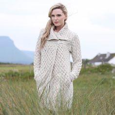 Ladies Single Button Plated Coat by Natallia Kulikouskaya for West End Knitwear, Ireland