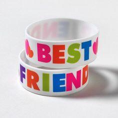 BFF Rubber Bracelet Set | Claire's #accessories