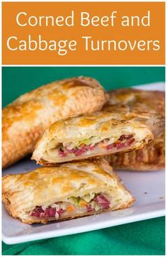 Corned Beef and Cabbage Turnovers – Sew You Think You Can Cook Canned Corned Beef Recipe, Corned Beef Pie, Corned Beef Sandwich, Corned Beef Recipes, Meat Recipes, Cooking Recipes, Corned Beef Fritters, Oven Cooking, Dessert