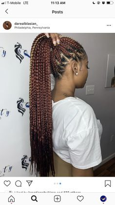 Braids With Bead Embellishments - 40 Best Big Box Braids Hairstyles Big Box Braids Hairstyles, Black Girl Braided Hairstyles, Braided Ponytail Hairstyles, African Braids Hairstyles, My Hairstyle, Weave Hairstyles, Girl Hairstyles, African Hair Braiding, Hairstyles Pictures