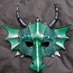 Spread your dragon wings with this magnificent mask by The Mummers Cat.