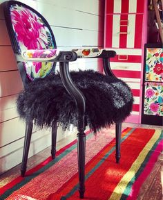 Customizable French Chair - May 18 2019 at Funky Painted Furniture, Reclaimed Wood Furniture, Refurbished Furniture, Repurposed Furniture, Unique Furniture, Diy Furniture, Vintage Furniture, Pallet Wood, Funky Chairs