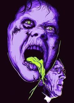 "Horror Movie Art : ""The Exorcist"" 1973 Horror Artwork, Images Gif, Horror Posters, Classic Horror Movies, The Exorcist, Horror Show, Fright Night, Arte Horror, Movie Poster Art"