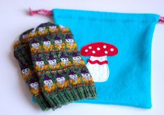 Gnome mittens finished by osloann, via Flickr