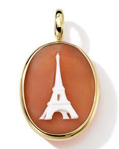 18k Gold Oval Eiffel Tower Cameo Charm by Ippolita at Bergdorf Goodman.