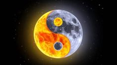 Yin Yang, Moon and Sun - this, only with the ocean waves instead of the sun!