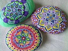 Pretty mandalas.  Painted on rocks
