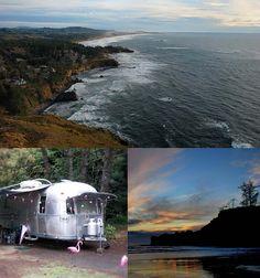Five Oregon Coast Camping Adventures - Where to Camp, Hike, and Eat Fünf Oregon Coast Camping-Abenteuer - wo man campen, wandern und essen kann Camping Places, Camping And Hiking, Outdoor Camping, Places To Travel, Places To Visit, Rv Camping, Camping Stuff, Backpacking, Oregon Vacation