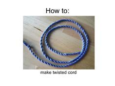 How To Make Twisted Cord using embroidery floss Needlepoint Stitches, Embroidery Stitches, Needlework, Yarn Bracelets, String Bracelets, Yarn Twist, Crochet Cord, Cross Stitch Finishing, Ornament Tutorial