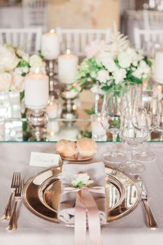 Beautiful Blush Pink Table Setting - Italian Destination Wedding At Lake Como Villa Sommi Picenardi With Bride In Antonio Riva And Images From Marta Guenzi Italian Wedding Photographer