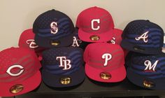 New Era 59Fifty July 4th Stars & Stripes MLB Baseball Hat Cap Adult Fitted USA #NewEra Baseball Gear, And July, New Era 59fifty, Dodgers, July 4th, All Star, Mlb, Stripes, Stars
