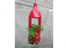 Artesanato com Reciclagem: Como fazer um vaso de garrafa PET passo a passo