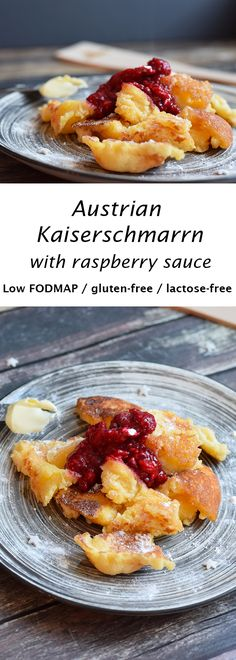 Delicious Austrian kaiserschmarrn. Low FODMAP, gluten-free and lactose-free.