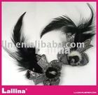 Beaded Feather Brooch bow(China (Mainland))