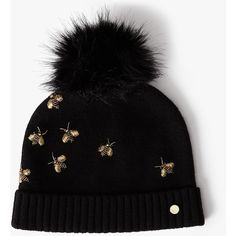 Ted Baker Arlea Bee Embellished Hat (€55) ❤ liked on Polyvore featuring  accessories 240394ac664c