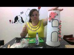 Como fazer uma telha decorada - porta-chaves com biscuit # parte 1 - YouTube